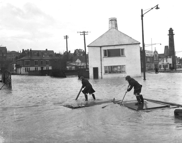 An archive picture of the Norfolk floods